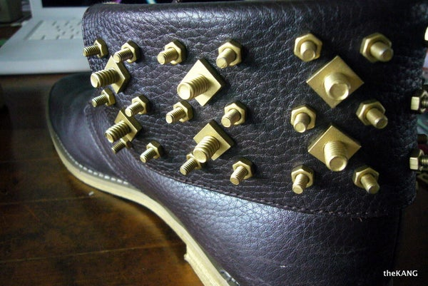 Nut and Bolt Studded Shoes