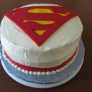 How to Decorate a Superman Cake