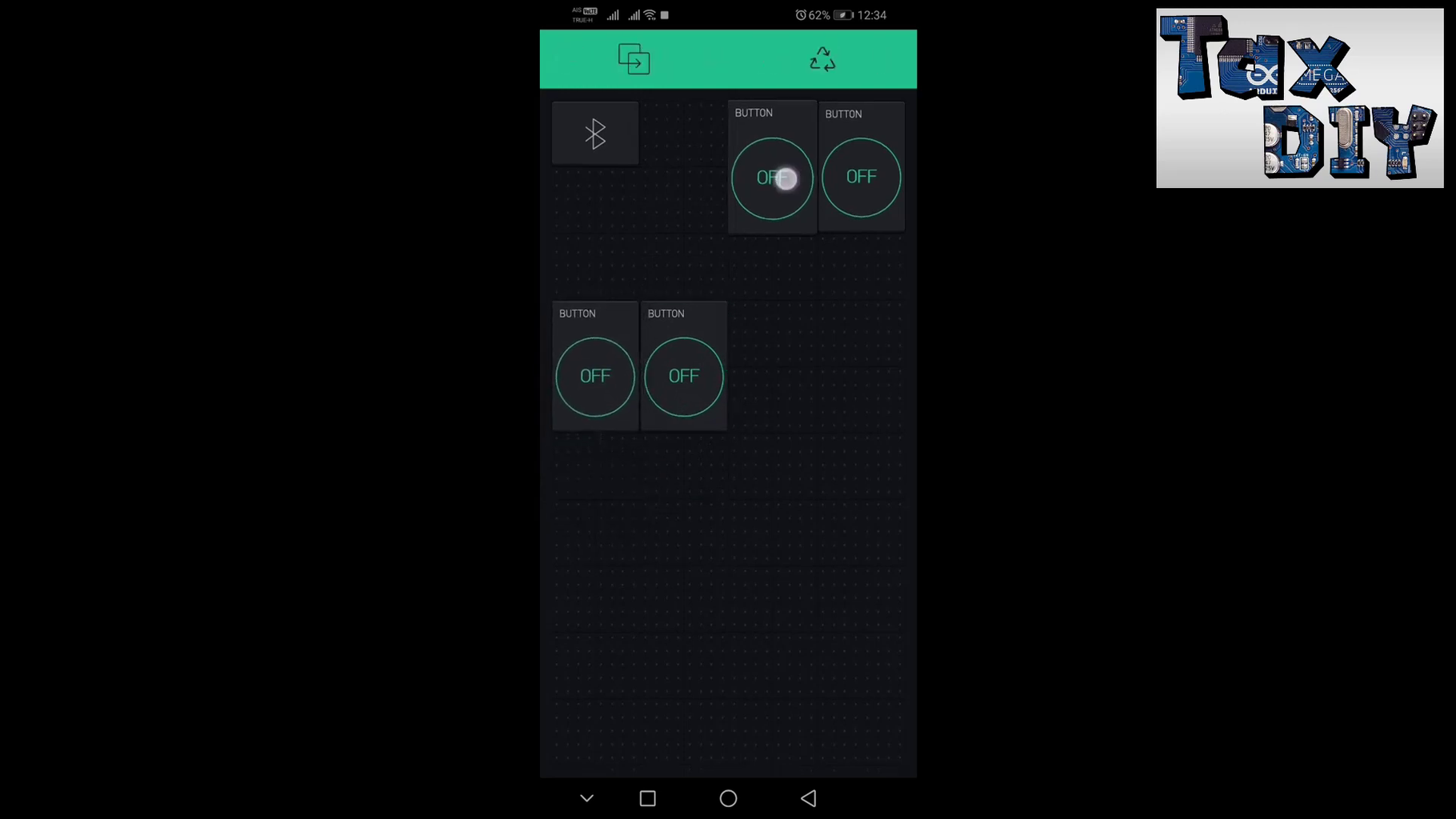 Download Application Blynk and Set Button