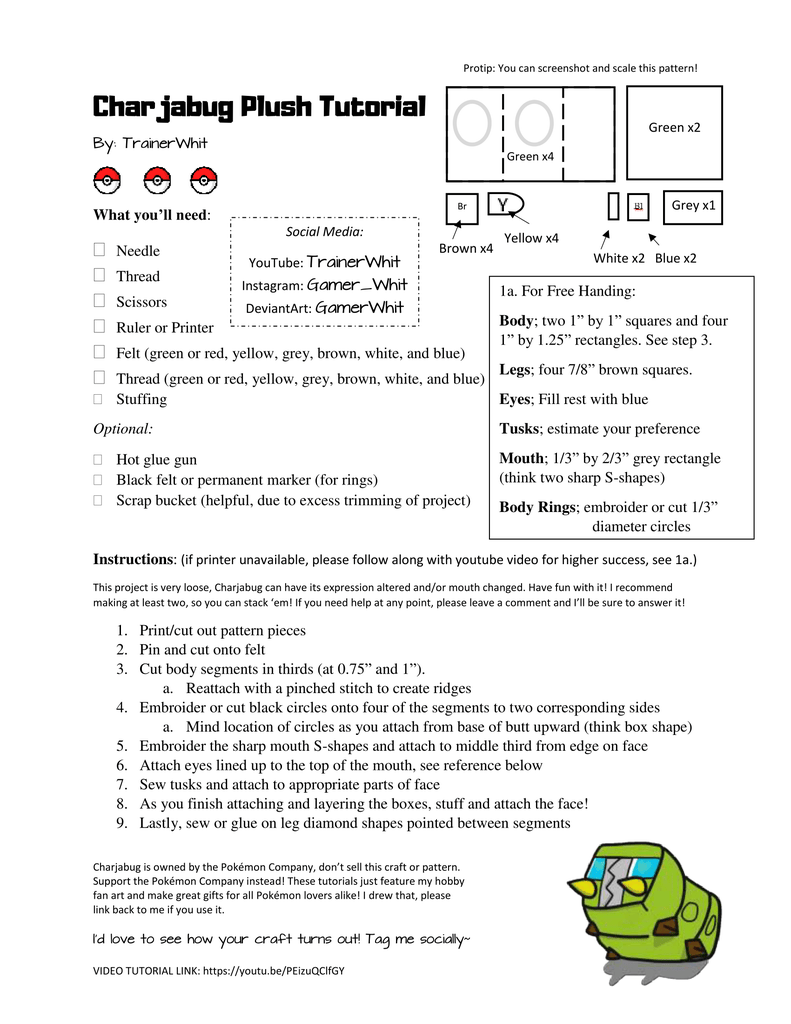 Print Pattern and Instructions