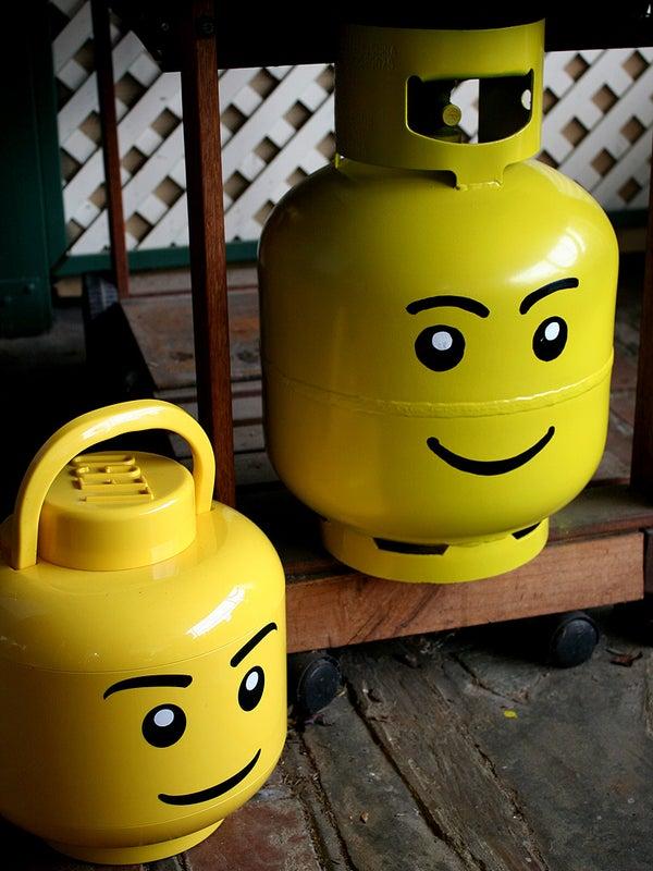 Propane Bottle Lego Head