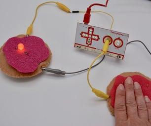 导电果冻甜甜圈 - 缝纫电路与Makey Makey的介绍