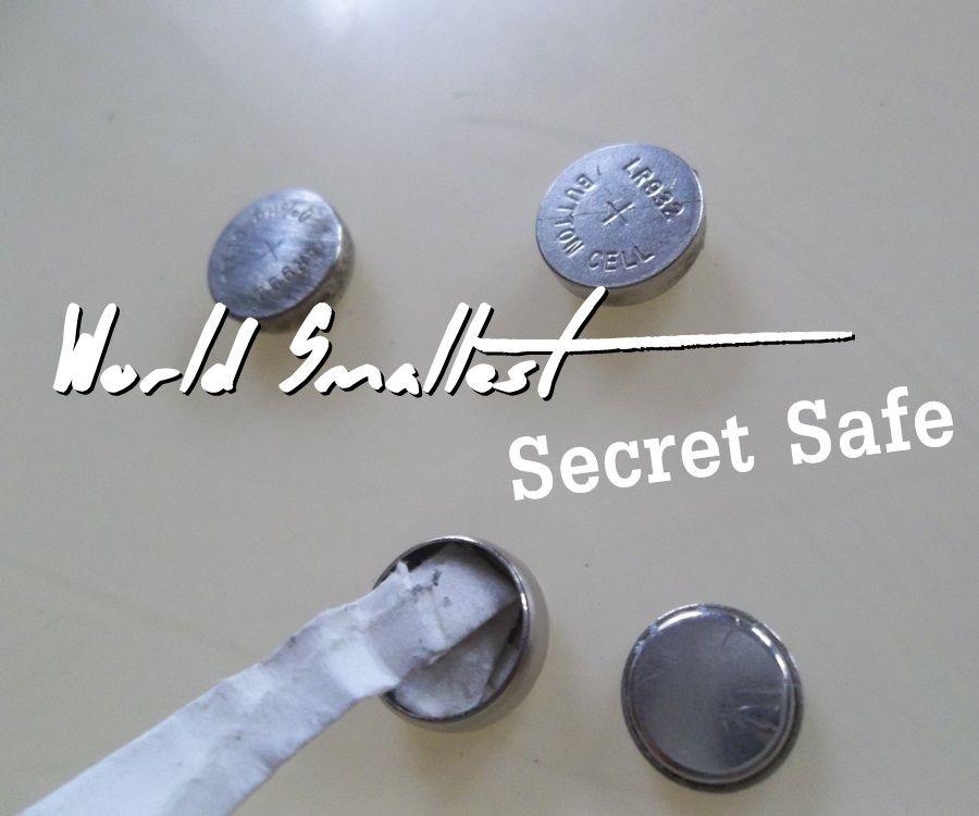 World Smallest Secret Safe. Use Botton Cell Battery