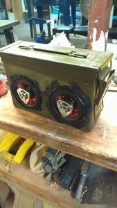 Ammunition Can Speakers