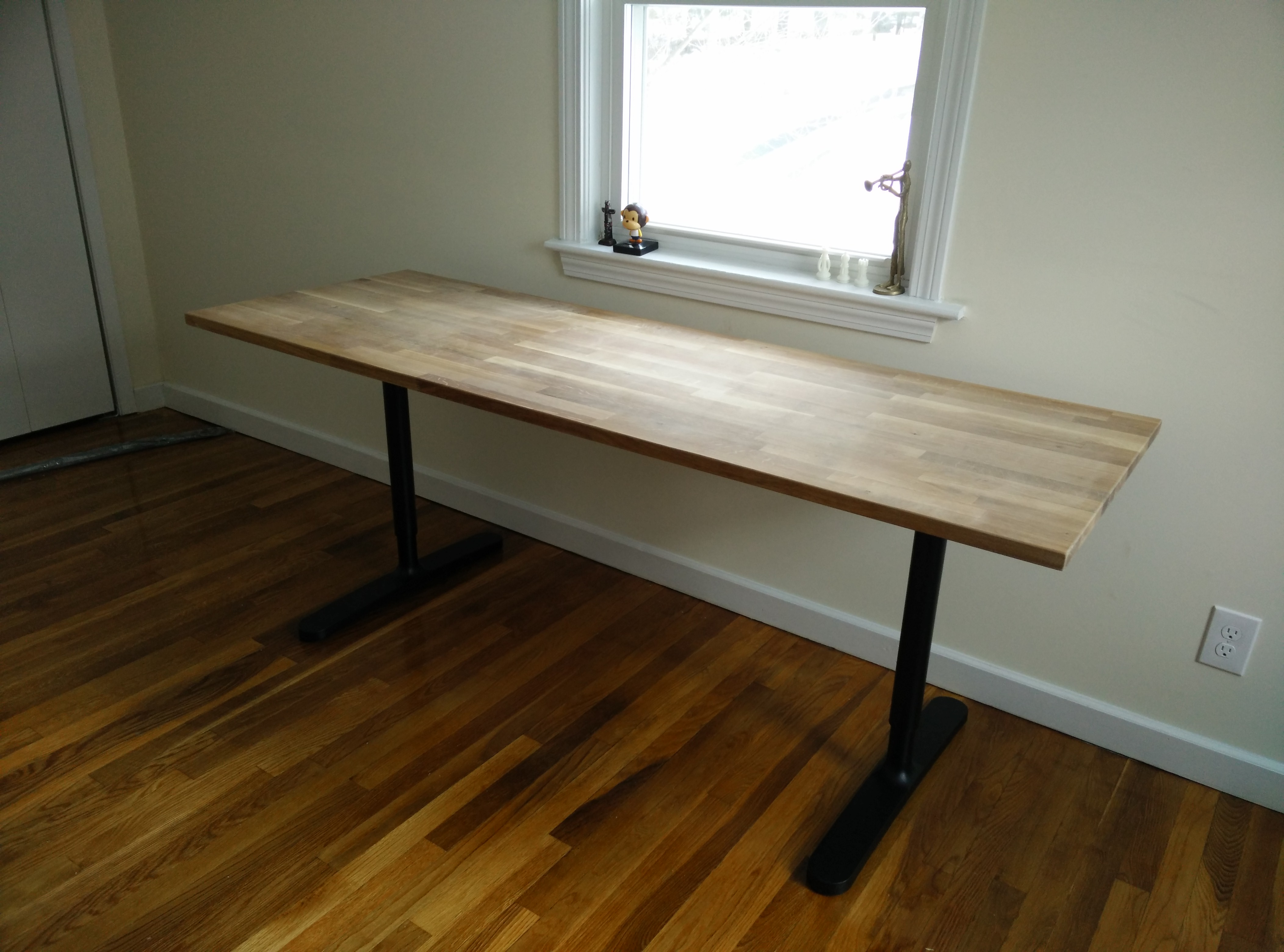 Picture of: Butcher Block Countertop Table Ikea Hack 4 Steps With Pictures Instructables