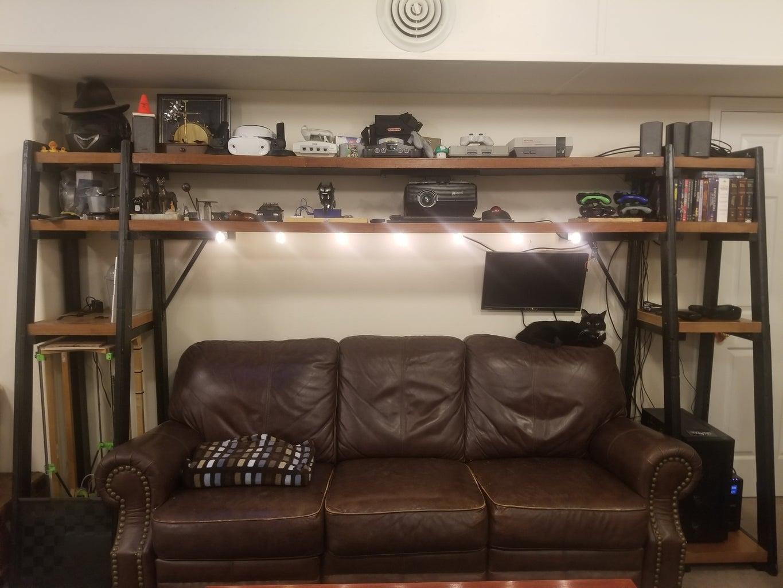 Edison Bulb Projector Shelves