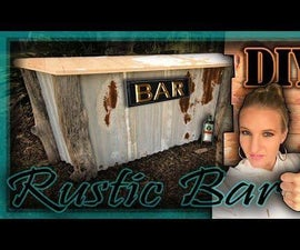 Rustic Pallet Wood Bar