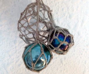 Tiny Glass Float Nets for Marbles and Other Spheres