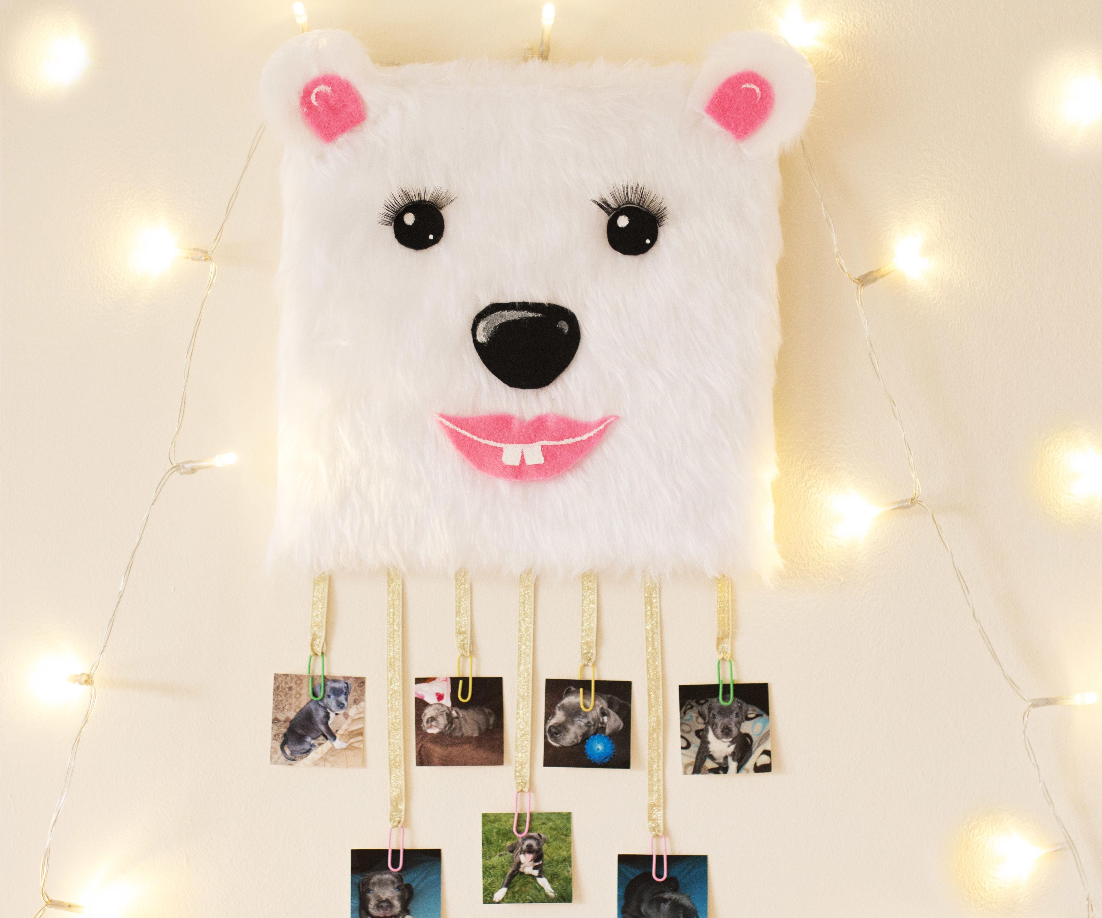 Polar bear picture frame - last minute DIY Christmas presents