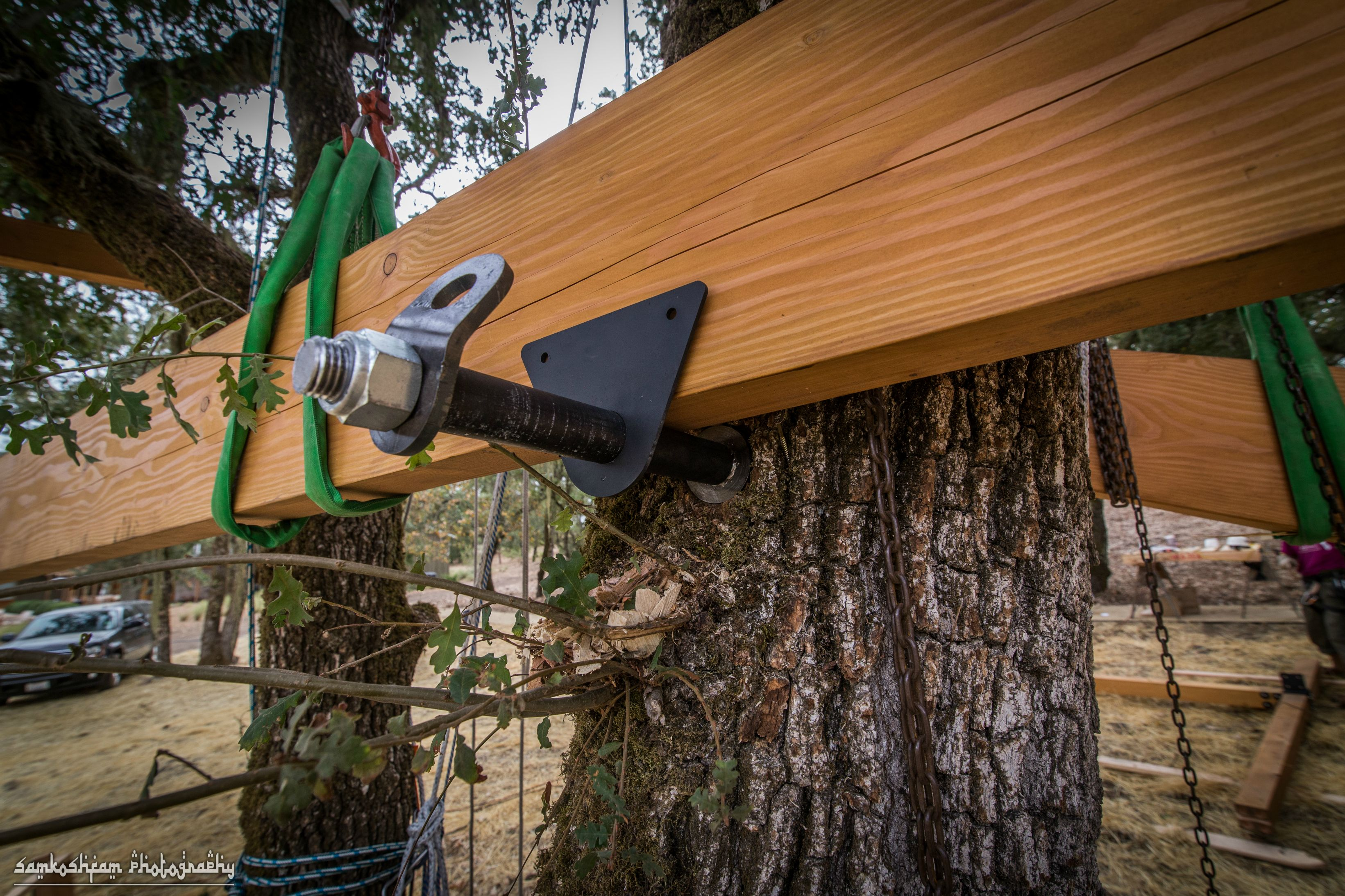 Treehouse Hardware Series Tree Attachment Bolt Tab 9 Steps With Pictures Instructables
