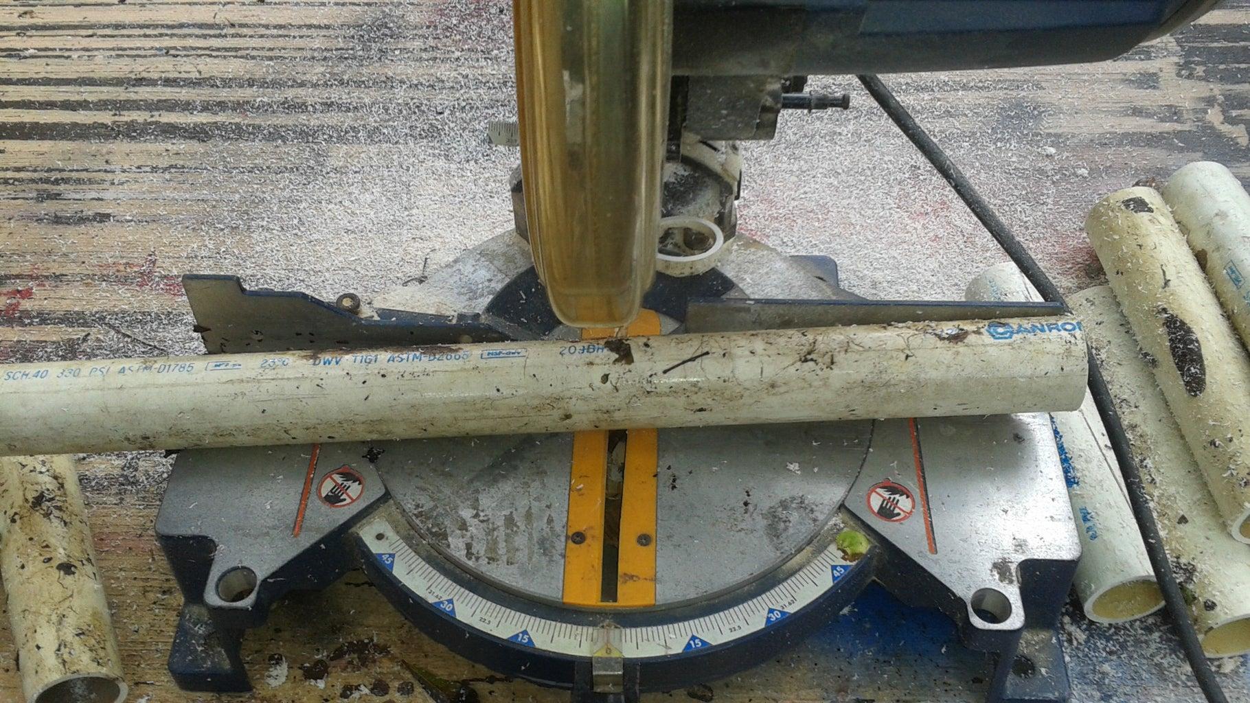 Cutting the PVC