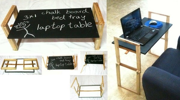 3x1 Folding Chalkboard Tray