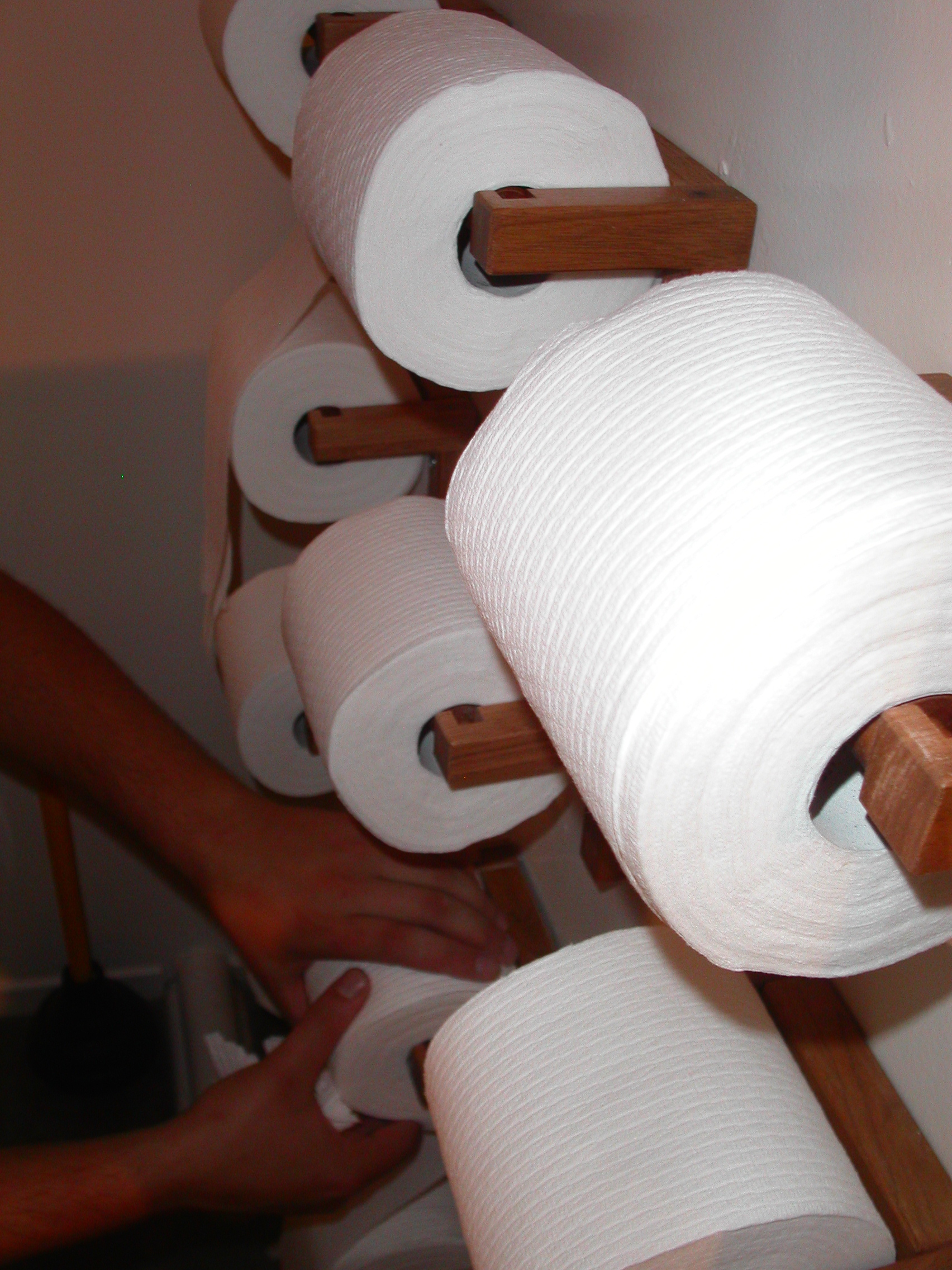 Run out of toilet paper 1/12th as often