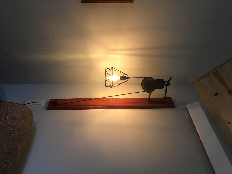 Vintage Pulley Lamp