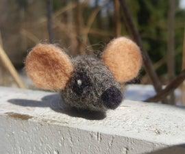 Needle Felted Catnip Mouse Toy