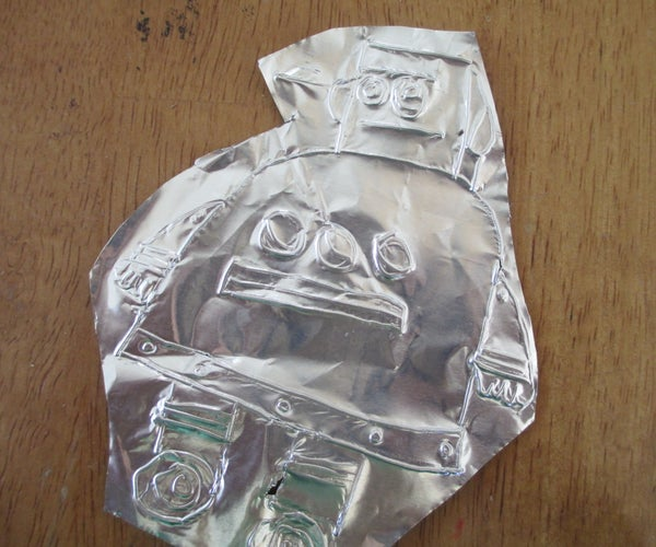Tinfoil Instructables Robot (etched)