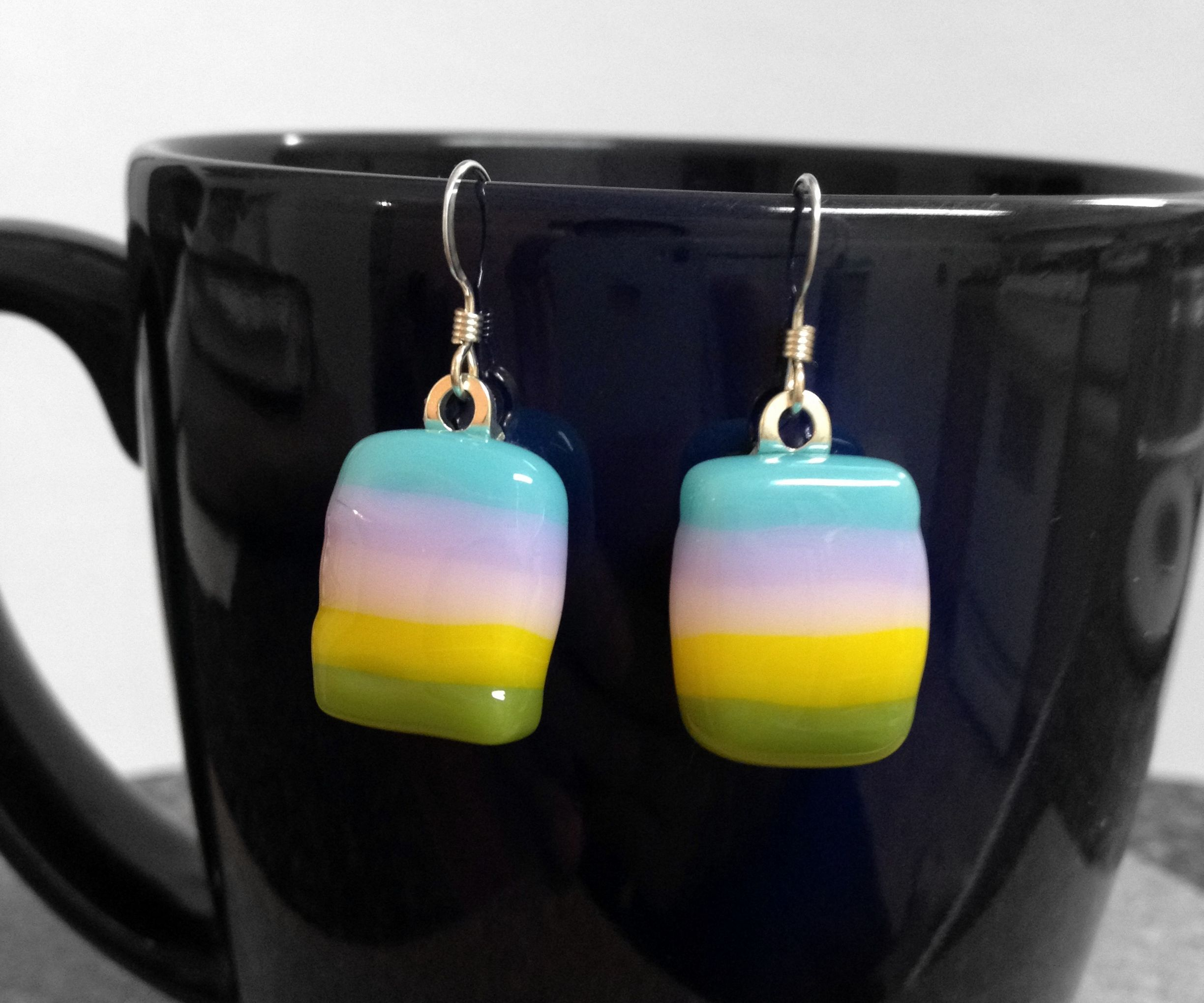 DIY Fused Glass Earrings in Microwave Oven