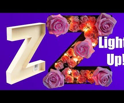 Light Up Floral Monogram Letter