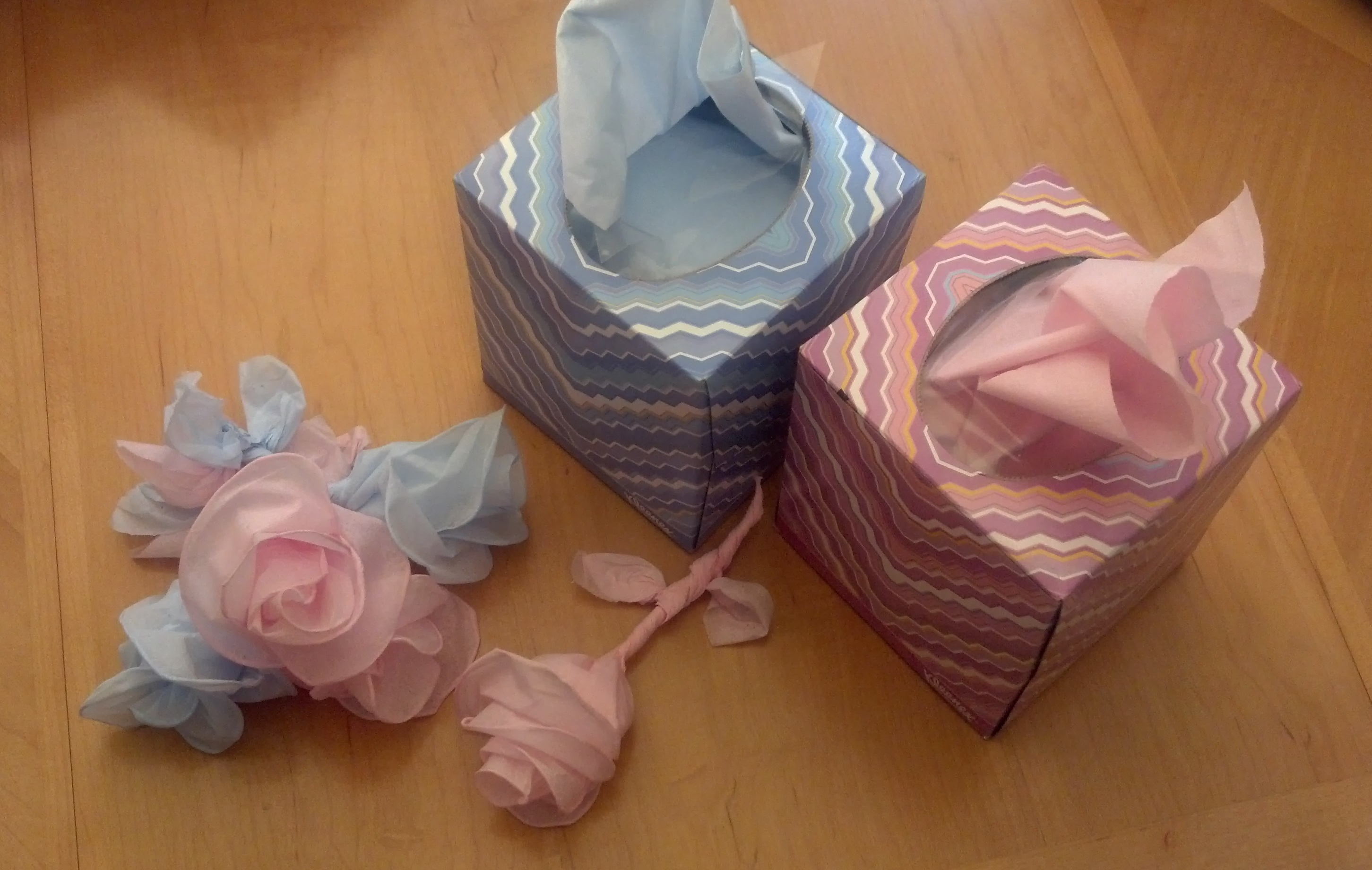 Twisted Facial Tissue Rose