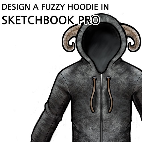 Using SketchBook Pro to Design a fuzzy hoodie