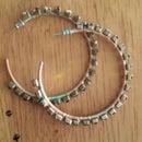 Upcycled Hoop Earrings