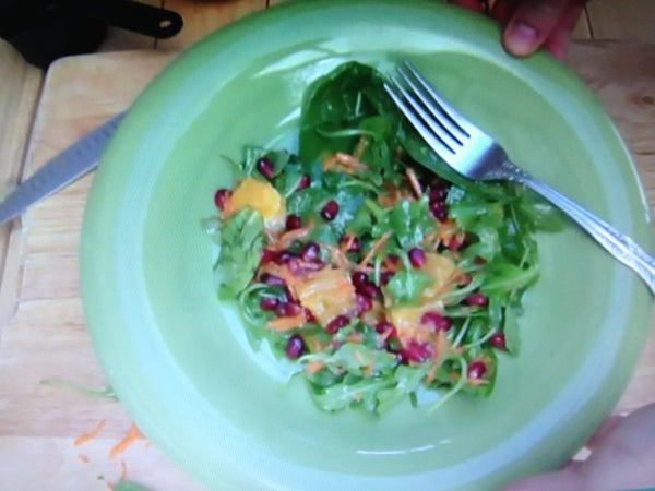 Pomegranate Greens & Orange Vinaigrette