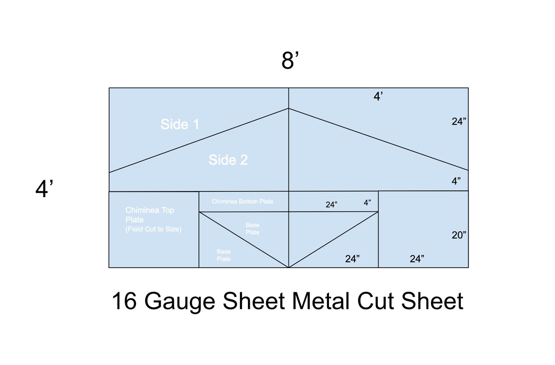 Measure and Cut Sheet Metal