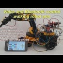 Wireless Robot Arm Which Is Moveable and Controlled by Bluetooth Voice Commands and Mobile App