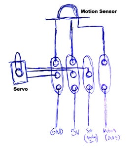 Wire Up Motion Sensor and Servo
