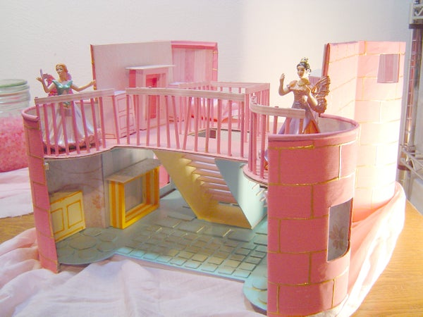 Pink Stone Fairy Cottage Doll House