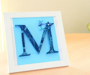 Paper Quilling Letter M