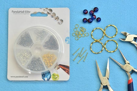 Jewelry Craft Supplies Needed in Making Glass Beads Earrings