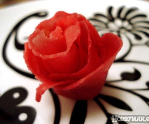 Make a Nice Marzipan Rose for Your Cake.