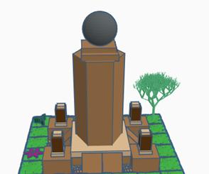 Model of the Middle of the World (La Ciudad Mitad Del Mundo) on TinkerCad