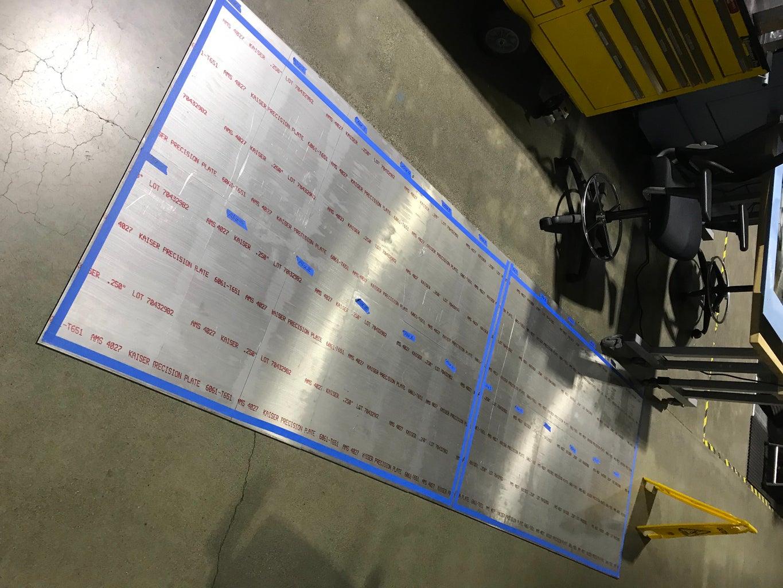 Book Matching Pre-cut Aluminum Sheets.