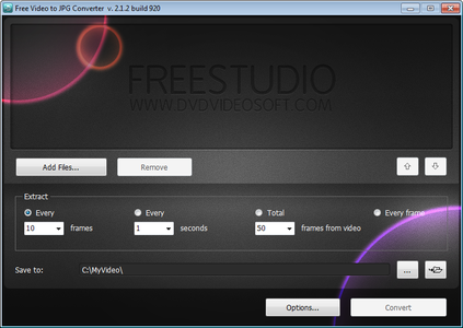 Download and Install Software( Free Video to JPG Converter )