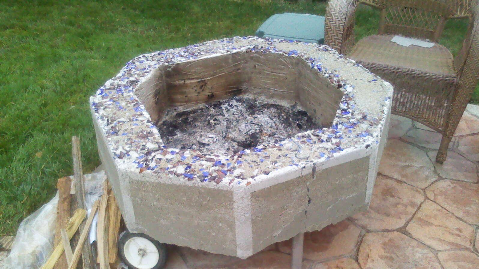 Moveable Cement Firepit