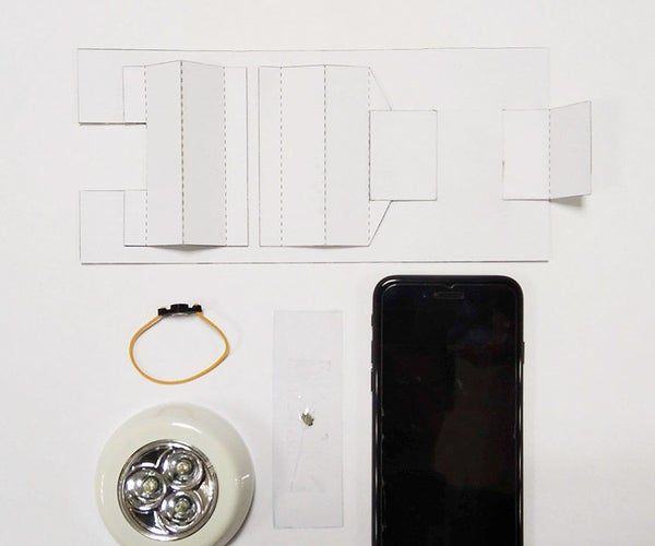 DIY Smartphone Paper Microscope With Simple Materials and Tools.