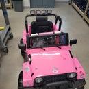 Olivia's Pink Jeep Build