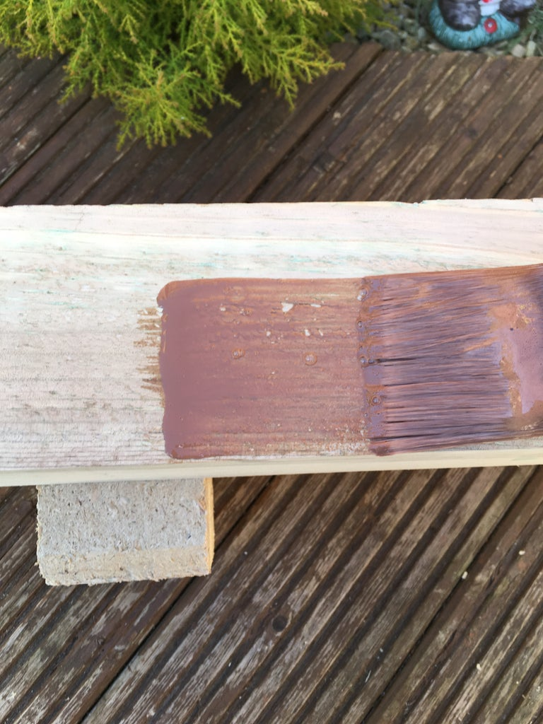 Staining the Timber