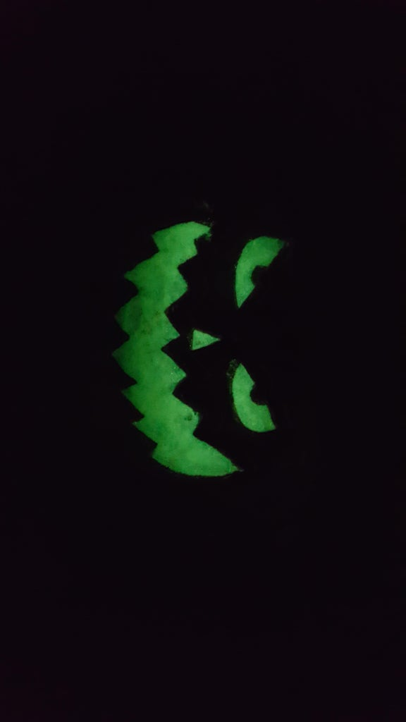 Painted Glow in the Dark Protective Face Mask