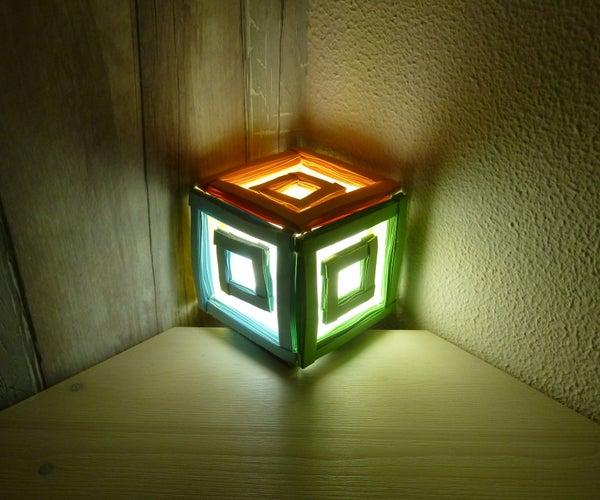 Windowed Paper Cube Lamp