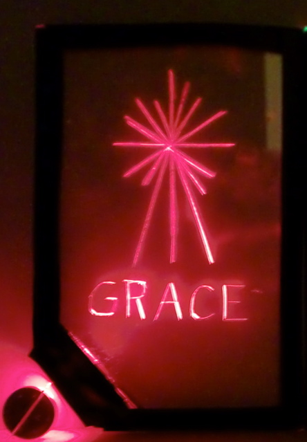 Light Up Your Friends Name- for Christmas, Valentines or Any Occasion! Edge Lit Freestanding Card
