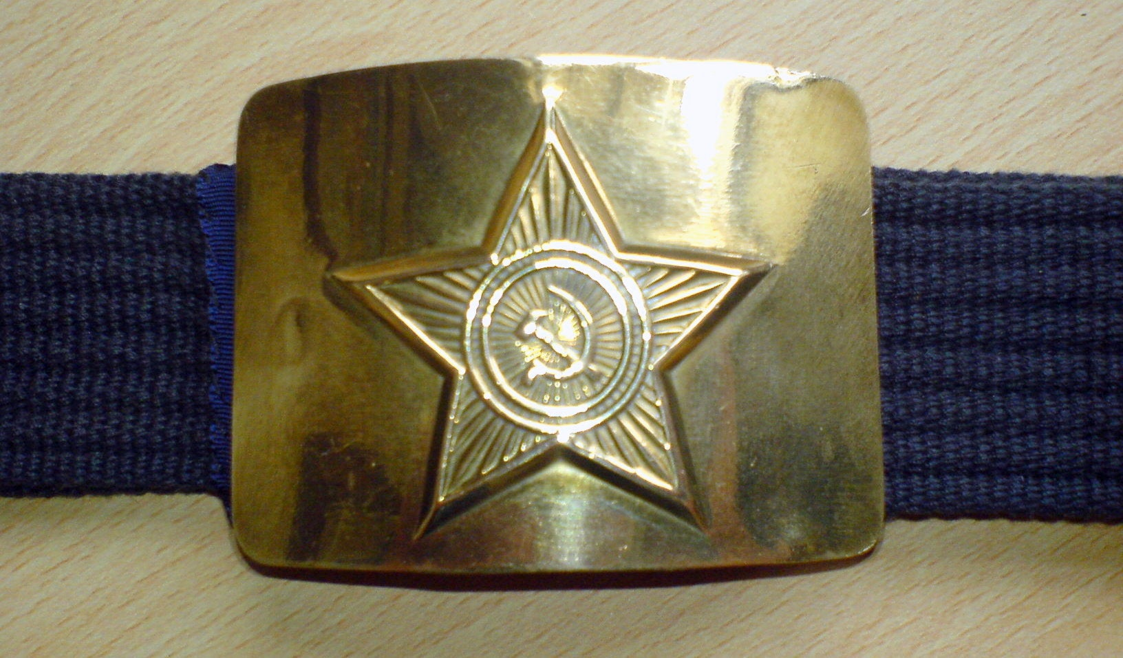 Brown leather belt with a metal buckle With a prayer in Cyrillic