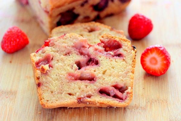 Gluten Free Strawberry Cake Bread