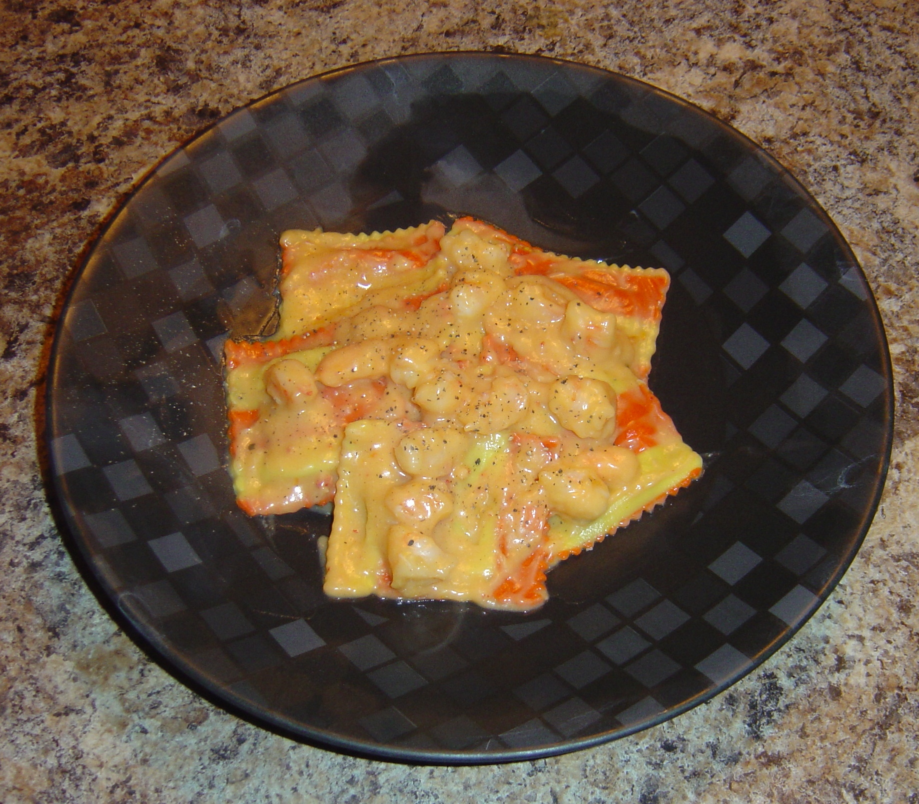 Ravioli with Lobster Cream Sauce