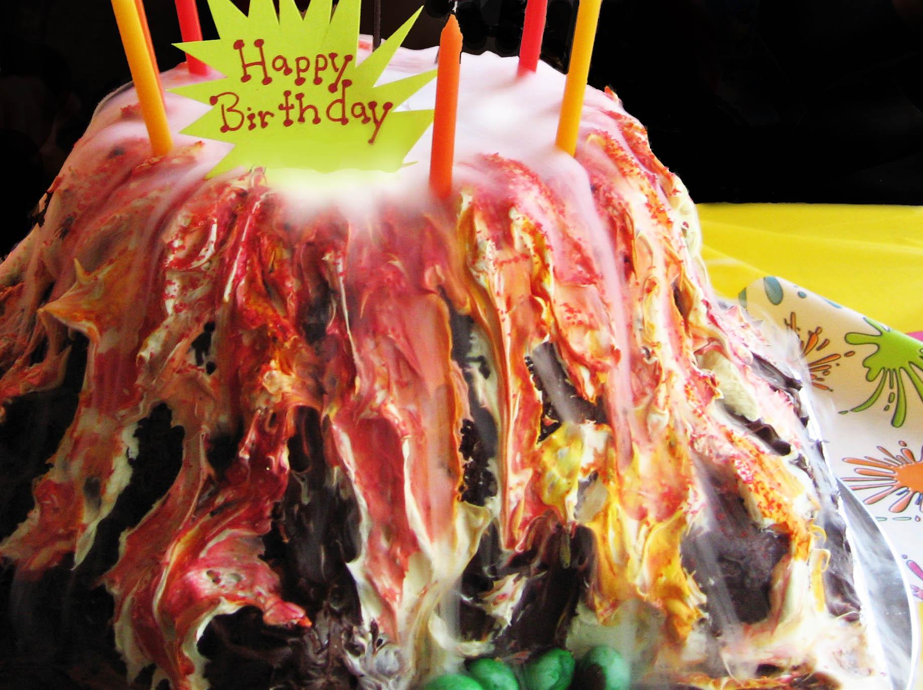 Really Smoking Volcano Cake!