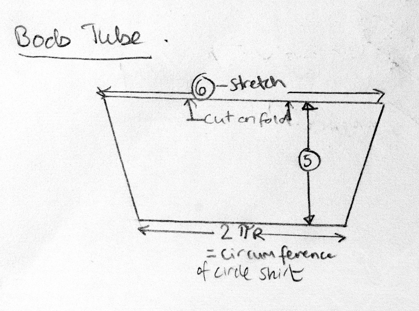 Pattern Piece 2: Boob Tube
