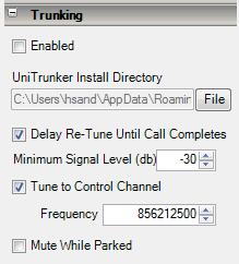 Setup UniTrunker to Control SDRSharp