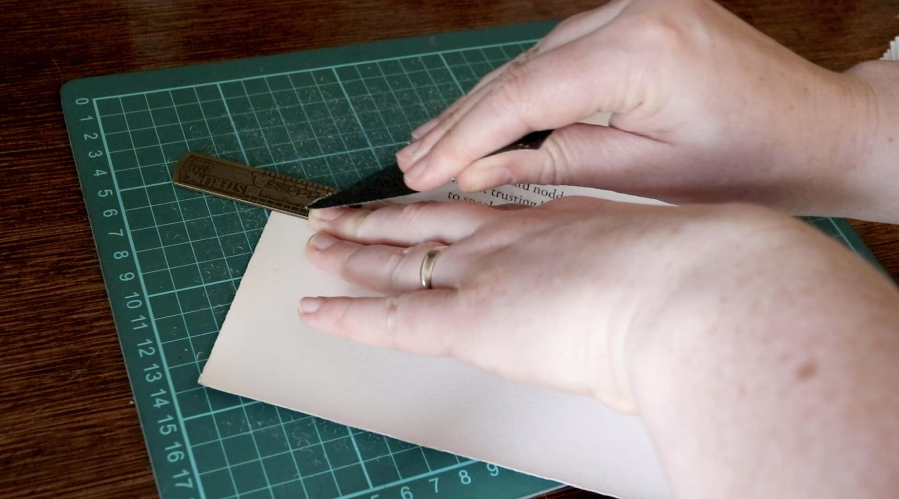 Tear Your Covering Paper Down to Size
